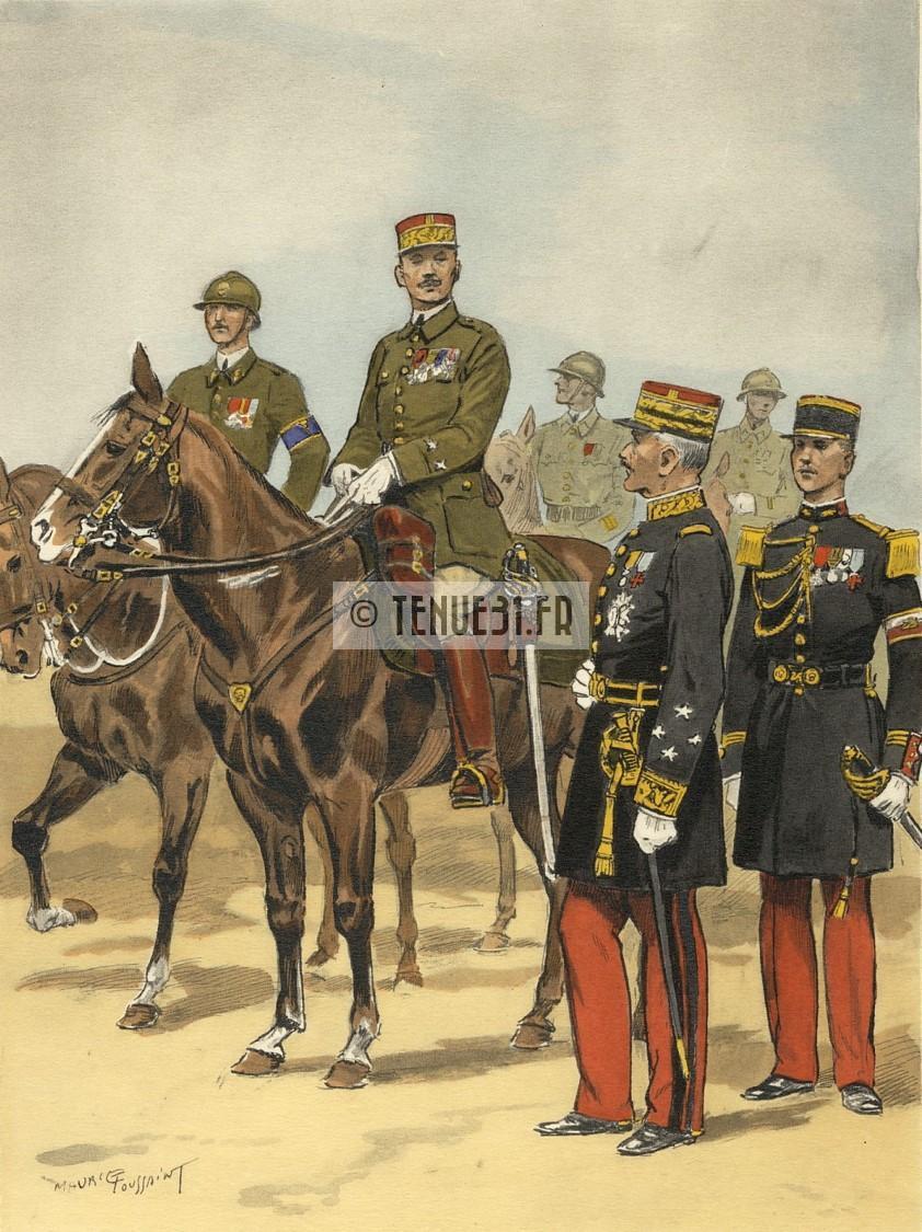Uniforme grande tenue officier français modèle 31 1931 tenue31.fr infanterie métropolitaine