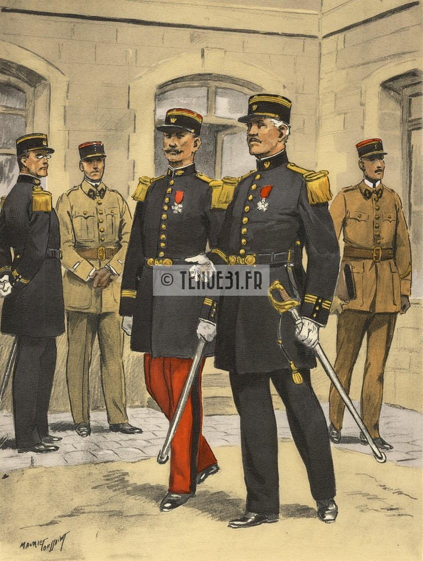 grande tenue officier uniforme sortie parade modèle 31 1931 képi armée ceinturon bottines lieutenant capitaine commandant chef bataillon colonel général justice militaire