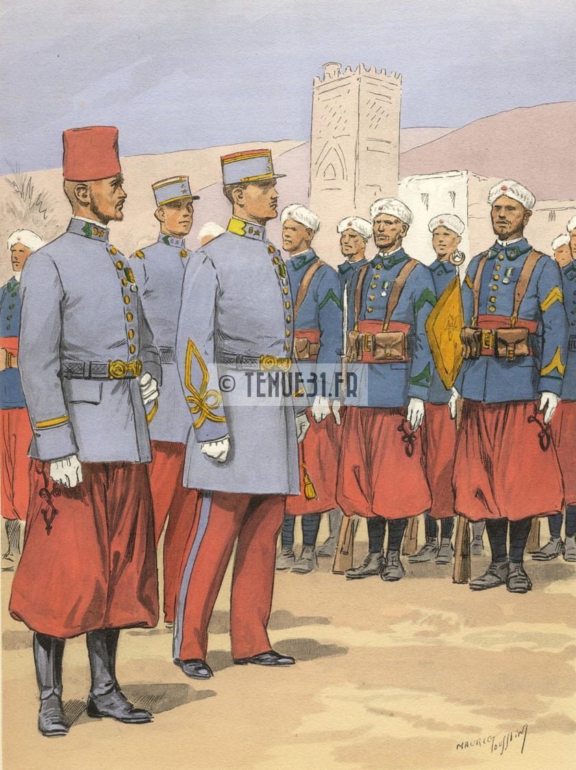Uniforme grande tenue officier français modèle 31 1931 tenue31.fr tirailleurs marocains