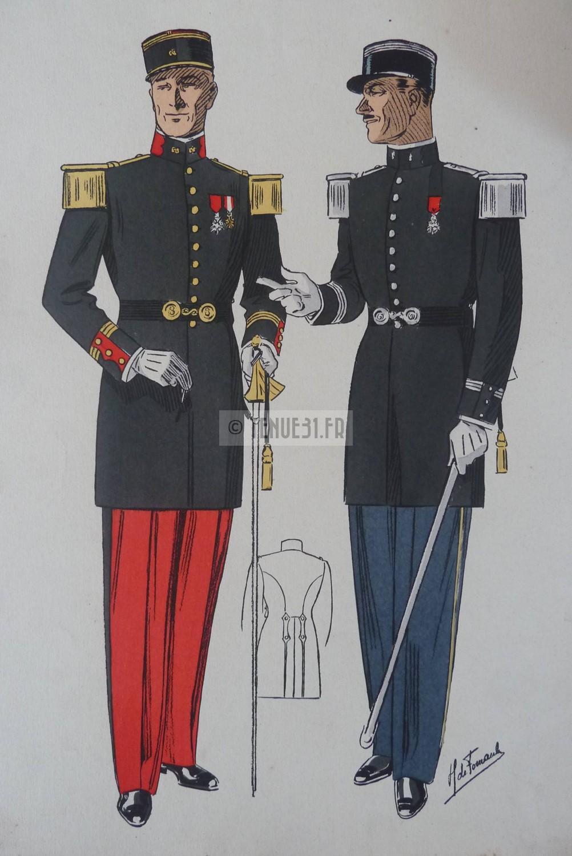 grande tenue officier uniforme sortie parade modèle 31 1931 képi armée ceinturon bottines lieutenant capitaine commandant chef bataillon colonel général tenue31 français