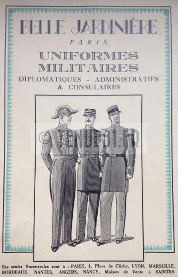 Uniforme grande tenue officier français modèle 31 1931 tenue31.fr BO