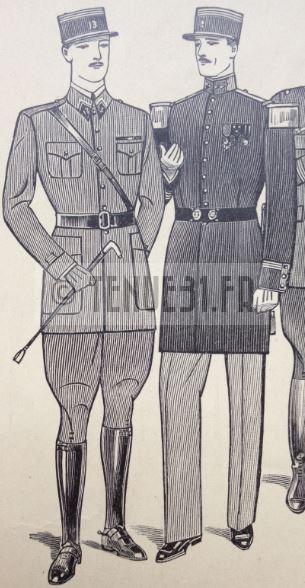 Uniforme grande tenue officier français modèle 31 1931 tenue31.fr tenue travail campagne jour