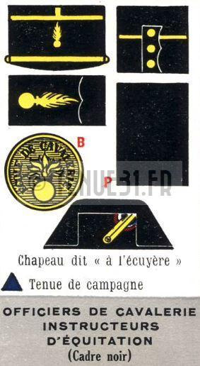 Uniforme grande tenue officier français modèle 31 1931 tenue31.fr cavalerie officiers instructeurs cadre noir