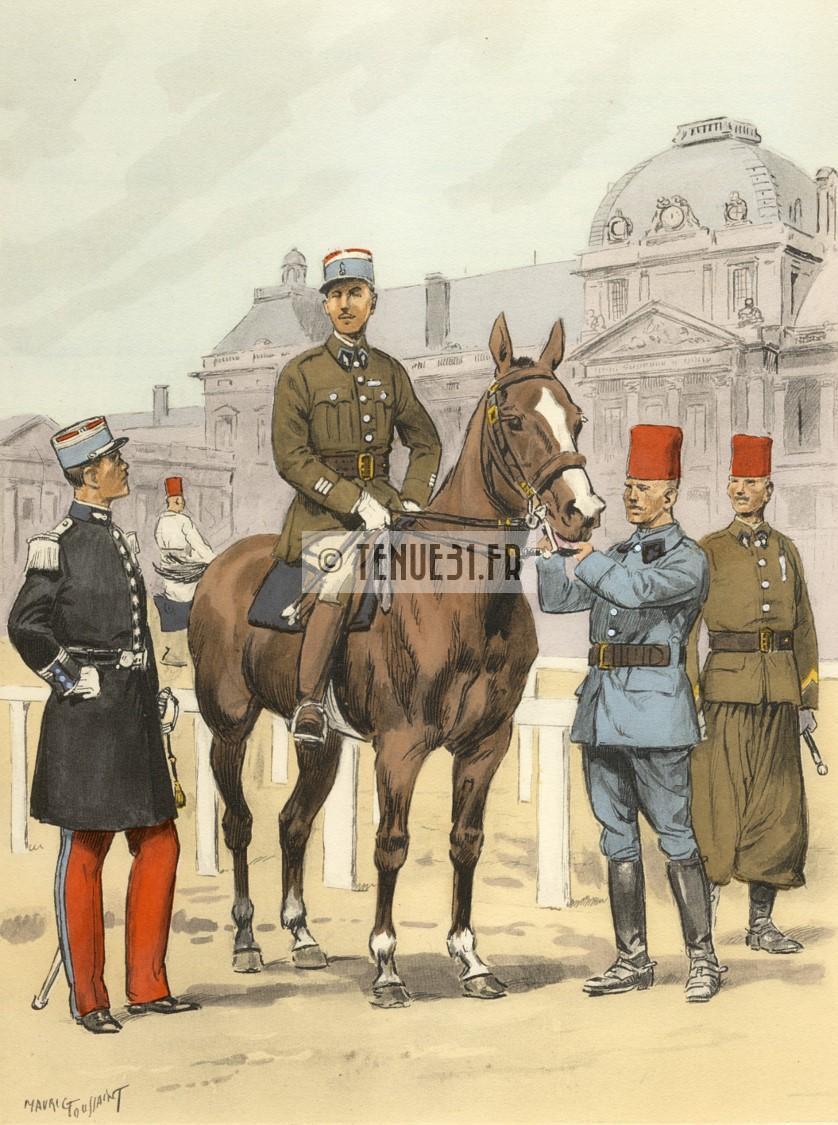 Uniforme grande tenue officier français modèle 31 1931 tenue31.fr cavalerie