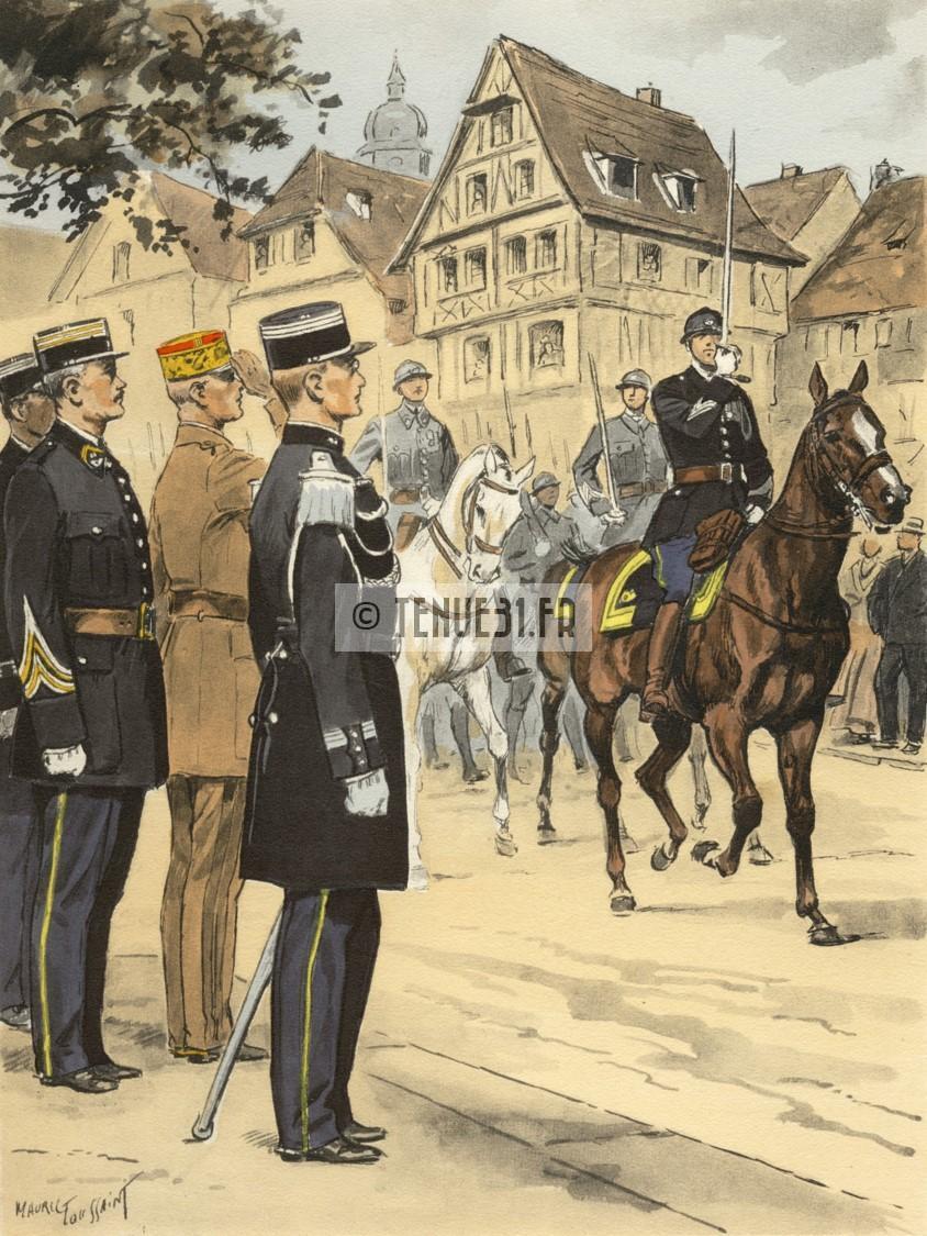 Uniforme grande tenue officier français modèle 31 1931 tenue31.fr chasseurs pied et alpins