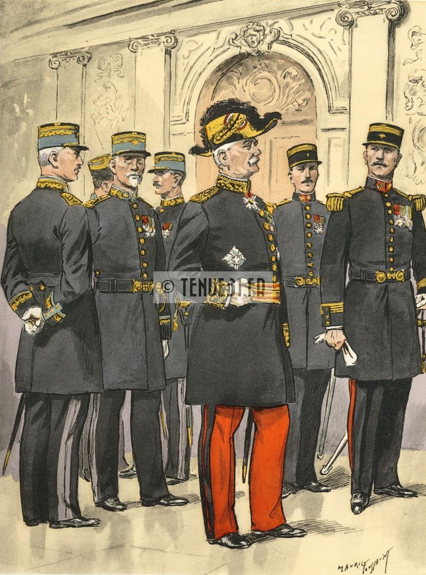 grande tenue officier uniforme sortie parade modèle 31 1931 képi armée ceinturon bottines lieutenant capitaine commandant chef bataillon colonel général service poudres salpêtre