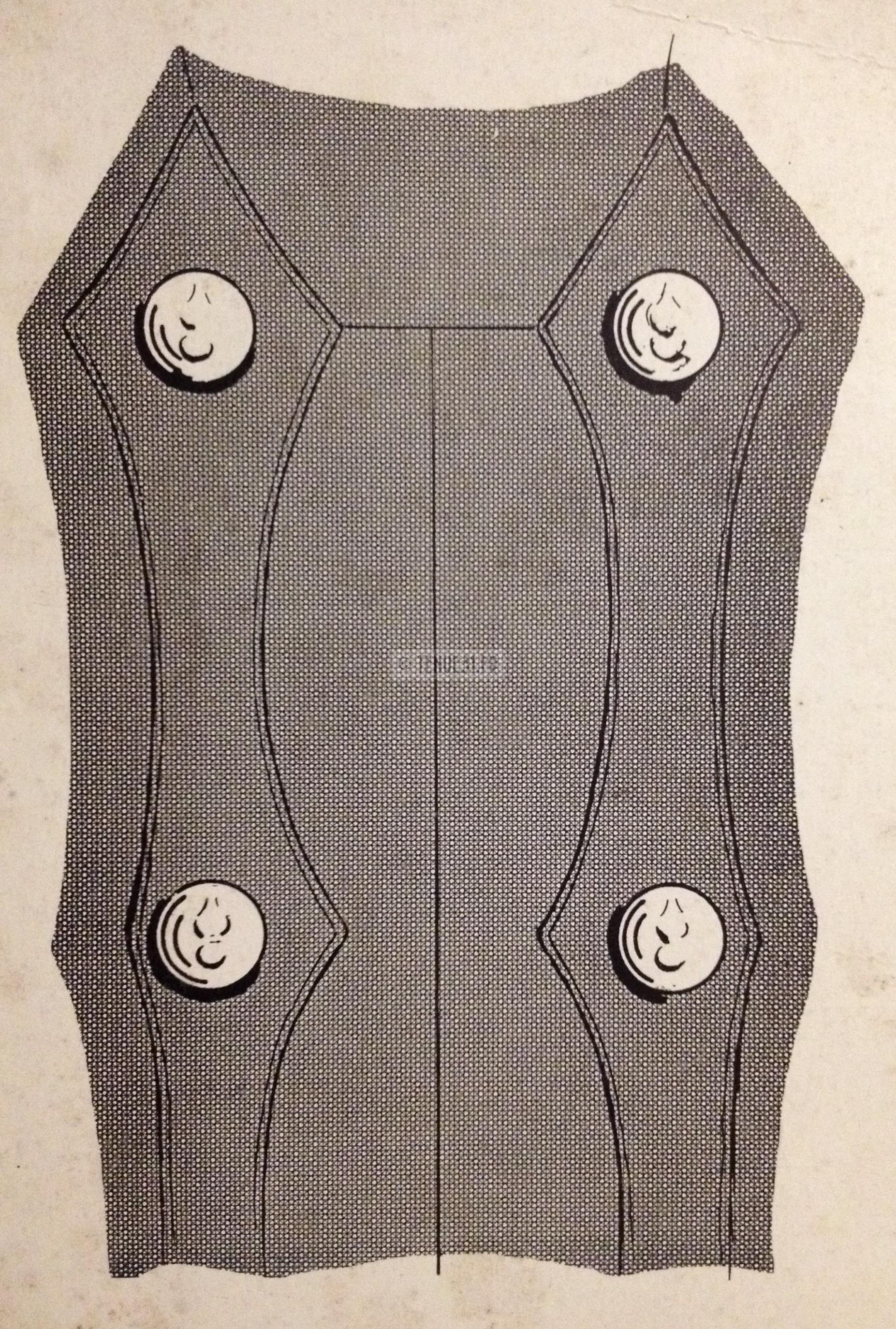 Dos de la tunique de la tenue modèle 1931