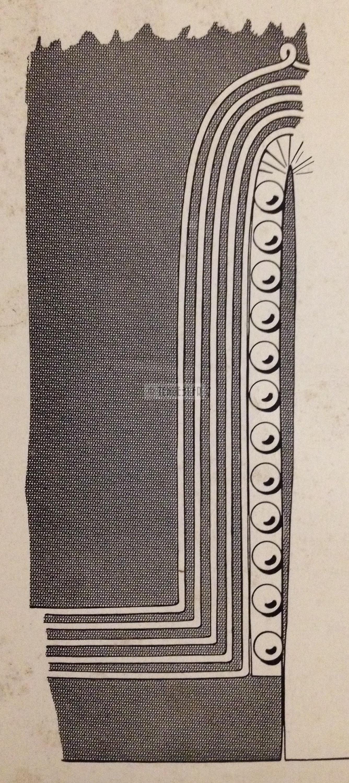 Manches de la tunique d'officier Zouave de la tenue modèle 1931 recto