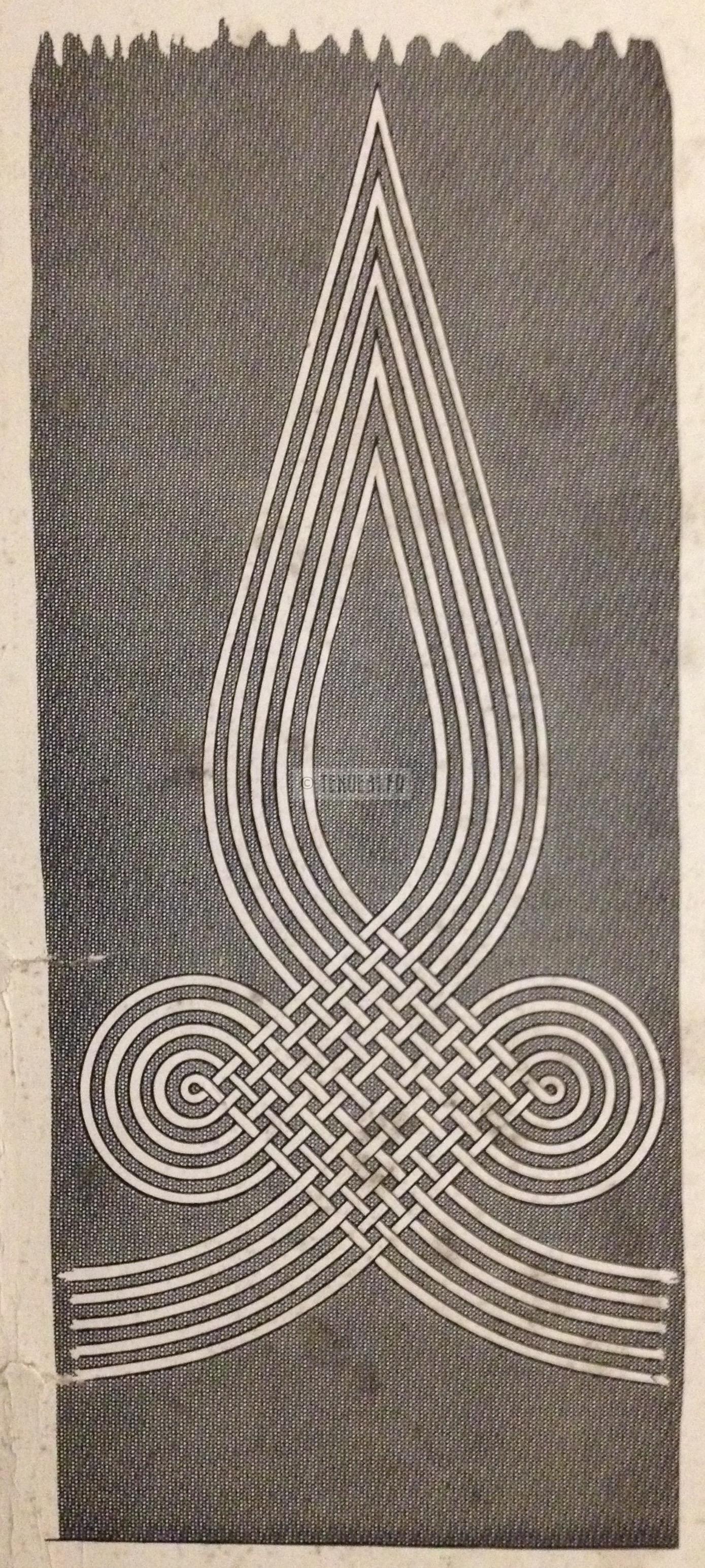 Manches de la tunique d'officier Zouave de la tenue modèle 1931 verso