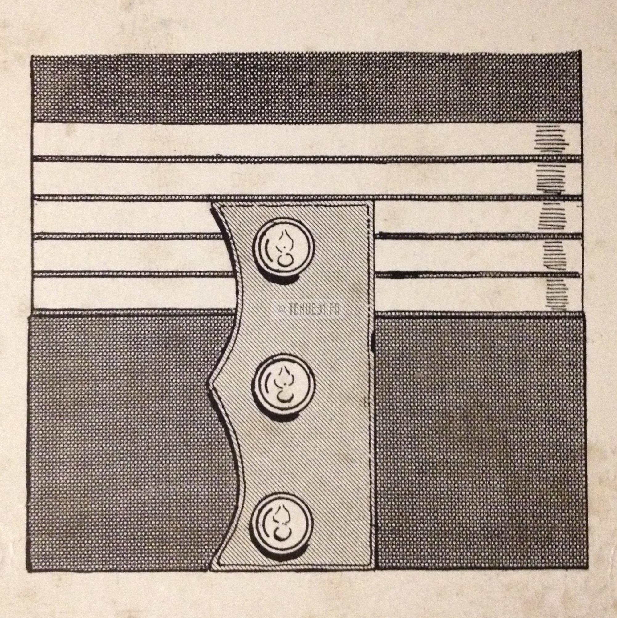 Pattes de grade sur les manches de la tenue modèle 1931