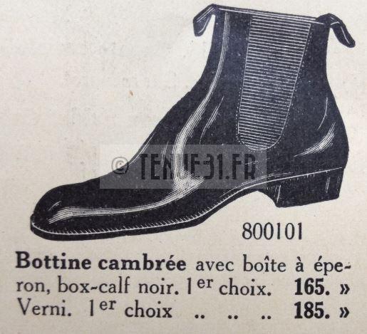 Bottines dans catalogue tailleur de la tenue modèle 1931