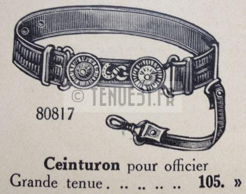 Ceinturon dans catalogue tailleur de la tenue modèle 1931