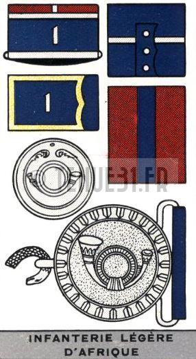 Descriptif de la grande tenue de l'officier des Bataillons d'Infanterie Légère d'Afrique BILA