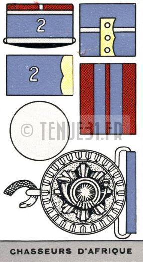Description de l'uniforme des Chasseurs d'Afrique