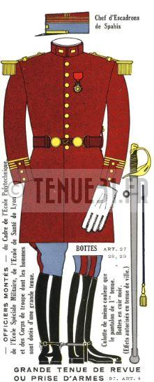 Uniforme de l'officier de spahis