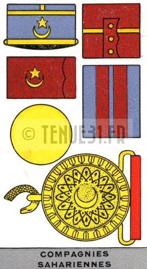 Description de l'uniforme des officiers des Compagnies Sahariennes