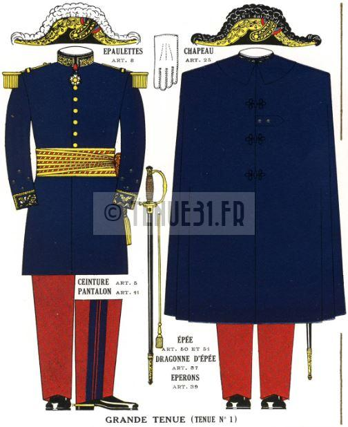 Uniforme grande tenue officier français modèle 31 1931 tenue31.fr généraux et maréchaux.