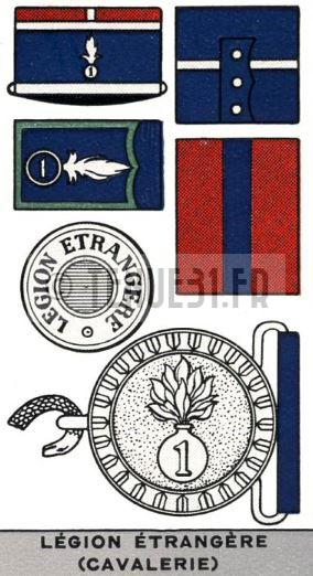 Description uniforme officier français modèle 31 Légion étrangère. REC