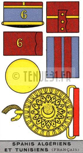 Description de l'uniforme des officiers Spahis Algériens et Spahis Tunisiens