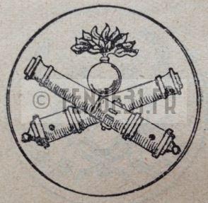 Motif intérieur de la boucle de ceinturon de la tenue modèle 1931 artillerie