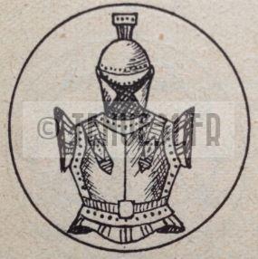 Motif intérieur de la boucle de ceinturon de la tenue modèle 1931 génie