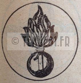 Motif intérieur de la boucle de ceinturon de la tenue modèle 1931 légion étrangère