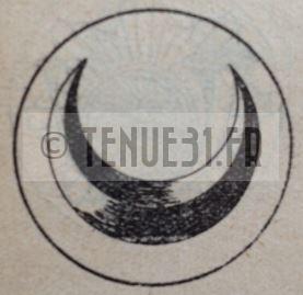 Motif des boucles de ceinturon d'interprète militaire.