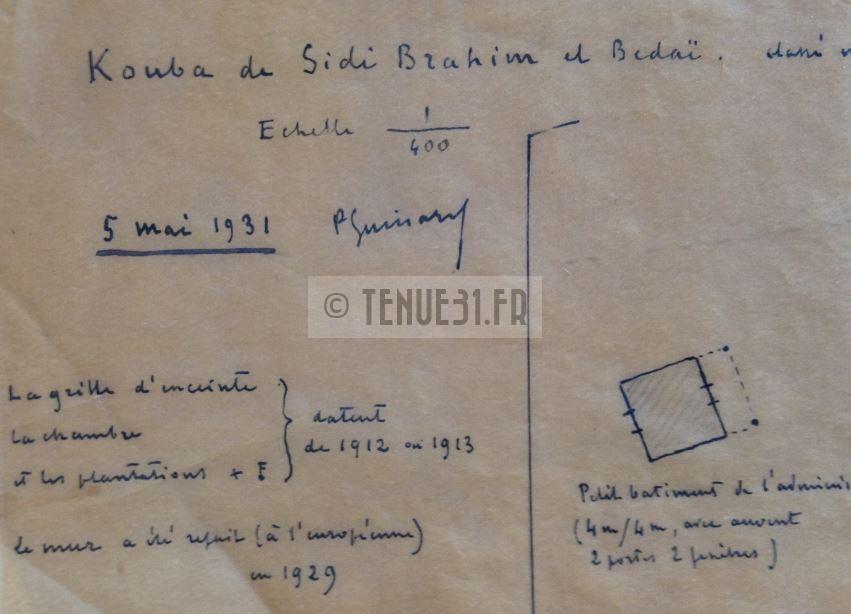 Sidi-Brahim Sidi Brahim Marabout Kouba Montagnac 8ème BCP Bataillon Chasseurs à Pied relevé 1931