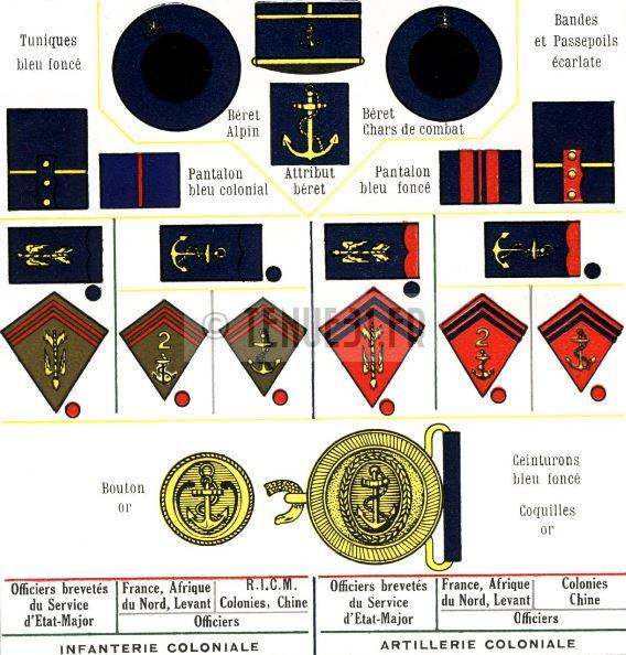 Tableau infanterie coloniale RIC