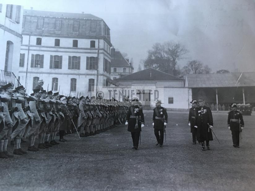 Général Maurin ministre de la Guerre à l'ESM 19 novembre 1934
