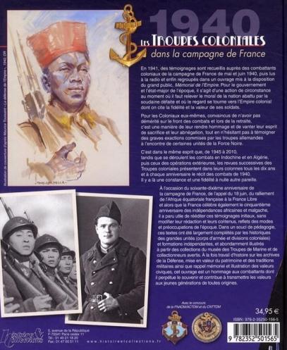 Les troupes coloniales dans la campagne de France - Septembre 1939 - Juin 1940 Paul Gaujac verso