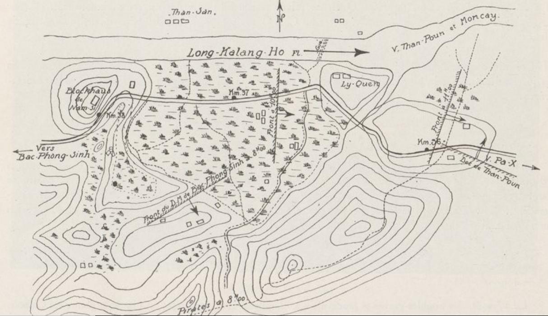 Carte indochine. Lieutenant d'Infanterie Coloniale Graille