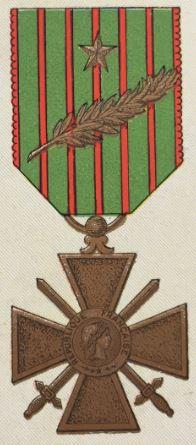 médailles ordres et décorations militaires : Croix de guerre 14-18