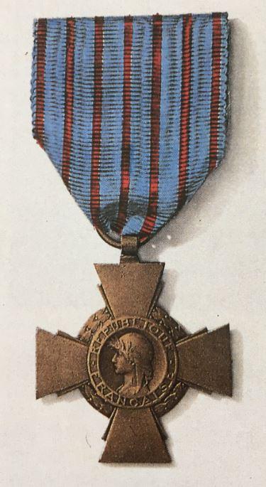 médailles ordres et décorations militaires : Croix du Combattant
