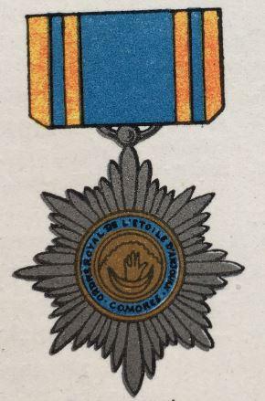 médailles ordres et décorations militaires : Etoile d'Anjouan