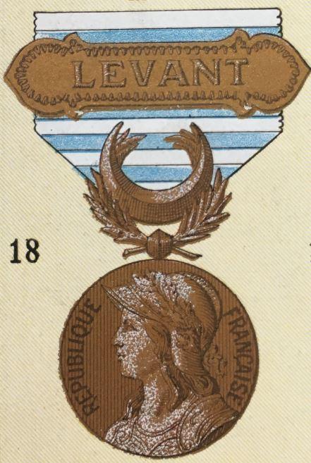 médailles ordres et décorations militaires : Médaille du Levant Syrie Cilicie