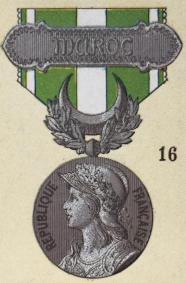 médailles ordres et décorations militaires : Médaille du Maroc