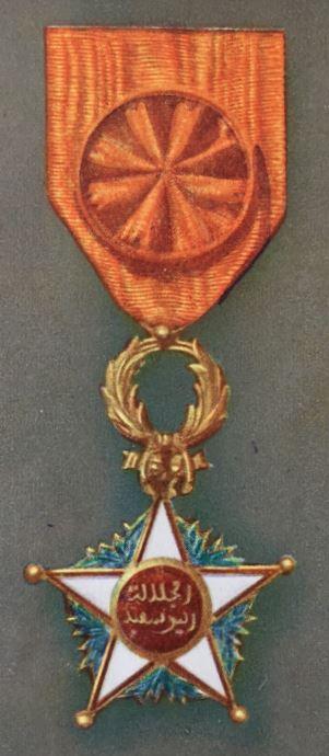 médailles ordres et décorations militaires : Ouissam Alaouite