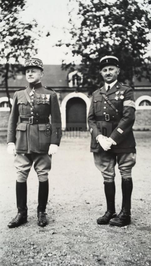 Général Texier et Capitaine Berthelot 14 juillet 1939