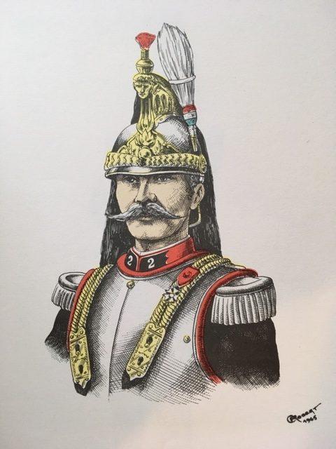 Aigrette colonel cuirassiers