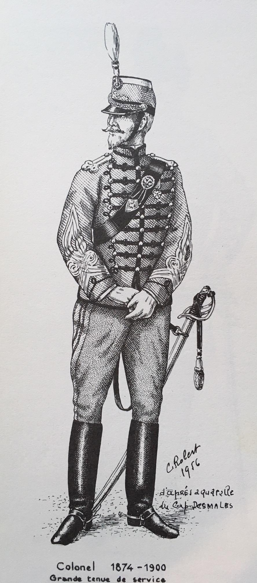 Aigrette colonel hussards