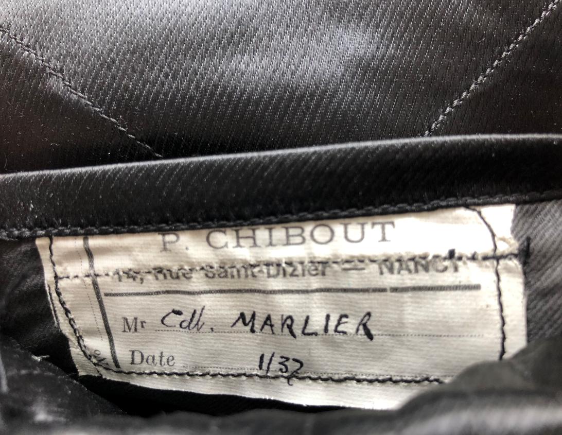 Marlier étiquette tailleur
