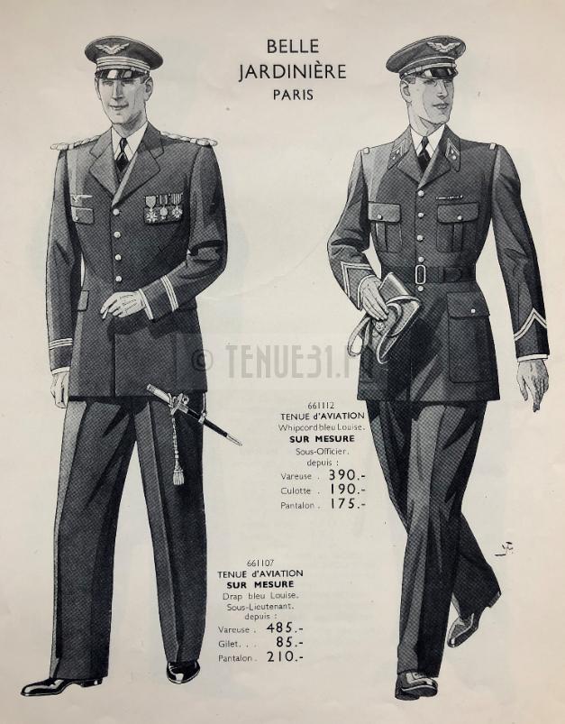 Aéronautique militaire - Tailleur Belle jardinière