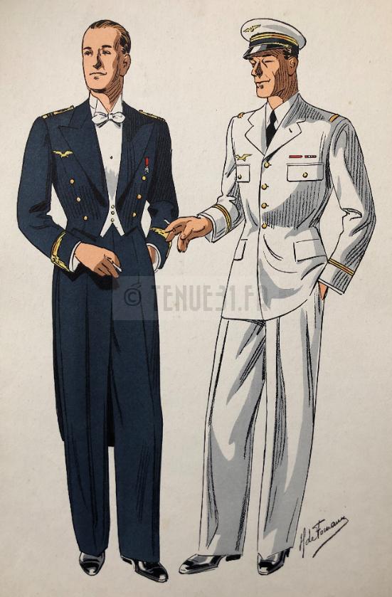 Aéronautique militaire - Tailleur Foucault couleur sortie