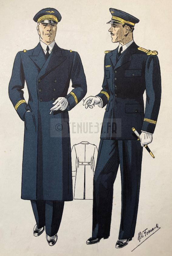 Aéronautique militaire - Tailleur Foucault couleur