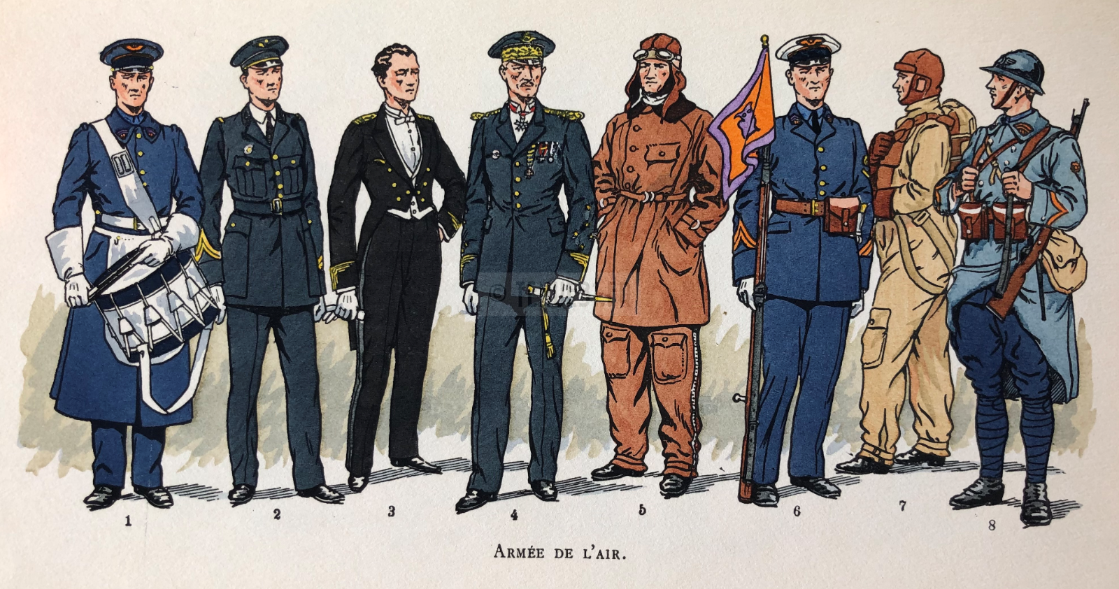Armée de l'air dans l'armée française 1939-1940 d'Albert Depréaux illustré par PA Leroux